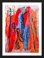 Saxophone Watercolor Picture Frame print