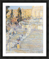 The Spanish steps by Hassam Picture Frame print