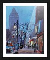 Downtown Montreal Night Picture Frame print