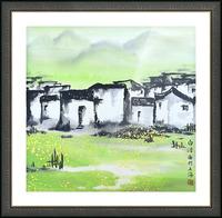 Zhongguo Cun - Chinese Village Picture Frame print