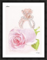 Pink Diamonds Picture Frame print