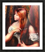 Combing girl Picture Frame print