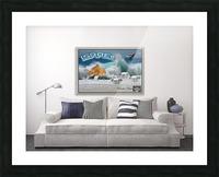 monogram art   israel ocean 1 FOR DSPLAY ONLY in room setting Picture Frame print