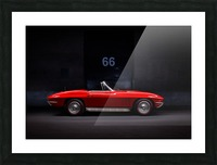 66 Vette Side_Edit Shadow 2 Picture Frame print