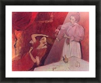 Combing hair by Degas Picture Frame print