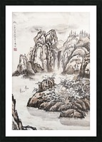 Yangze River with Water Fall Picture Frame print