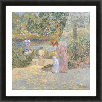 The staircase at Central Park by Hassam Picture Frame print