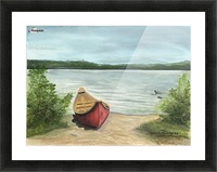 Beauty Lake Picture Frame print