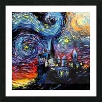Castle Starry Night print van Gogh parody Picture Frame print