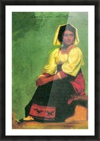 Costume study of a seated woman by Bierstadt Picture Frame print