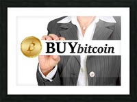 Bitcoin Picture Frame print