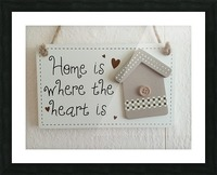 Sweet Home Picture Frame print