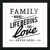 Family Love Picture Frame print
