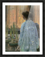The table garden by Hassam Picture Frame print