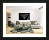 monogram diamond aaa  FOR DISPLAY ONLY  room1 Picture Frame print