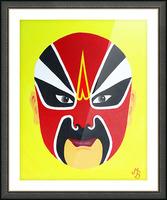 Zhuan Zhu - Chinese Opera Mask Picture Frame print