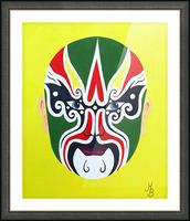 Cheng Yaojin - Chinese Opera Mask Picture Frame print
