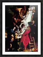 Cross, Triptych, Middle panel of Crucifixion by Rubens Picture Frame print