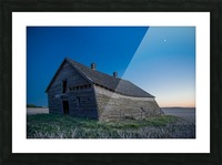 Leaning Barn Picture Frame print
