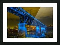 Blue Bridge Picture Frame print
