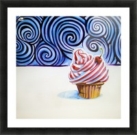 Cupcake Picture Frame print