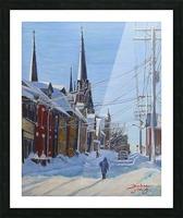 Charlottetown Winter Scene Picture Frame print