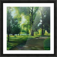 Arboretum at canal Picture Frame print