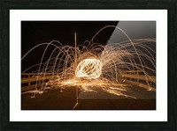 Spiral orb Picture Frame print