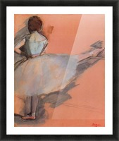 Dancer at the bar 1 by Degas Picture Frame print