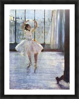 Dancer being photographed by Degas Picture Frame print