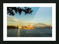 Sydney Opera house in the pre dawn light across the bay. Picture Frame print