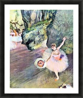 Dancer with a bouquet of flowers (The Star of the ballet) by Degas Picture Frame print