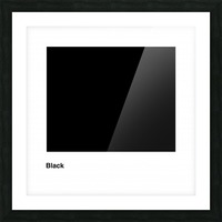 Solid Black process color with word Picture Frame print