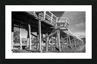 Old disused railway bridge New South Wales australia Mono Picture Frame print