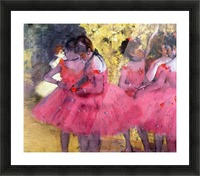Dancers in pink between the scenes by Degas Picture Frame print