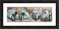 Dancers lace their shoes by Degas Picture Frame print