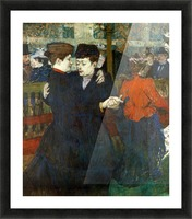 Dancing a Valse by Toulouse-Lautrec Picture Frame print