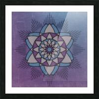 Simple Vintage Glow Mandala Solid Picture Frame print