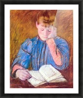 Thoughtful reader by Cassatt Picture Frame print