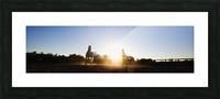 Lunging at Sunset Picture Frame print