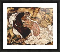 Death and the Woman by Schiele Picture Frame print