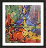 Deer in Forest by Franz Marc Picture Frame print