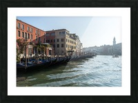 Classic Venetian - Glossy Gondolas And Ripples On The Grand Canal Picture Frame print