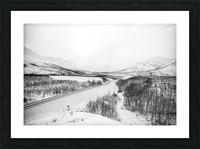 Kolyma Highway in Yakutia Picture Frame print