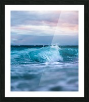 Blue Waves Picture Frame print