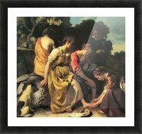 Diana and her nymphs by Vermeer Picture Frame print
