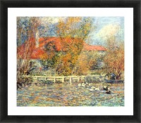Duck pond Picture Frame print