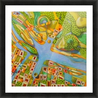 imaginary map of turin Picture Frame print