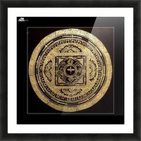 Nepali Goldwork: Buddha Eyes Picture Frame print