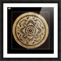 Nepali Goldwork: Peace Picture Frame print